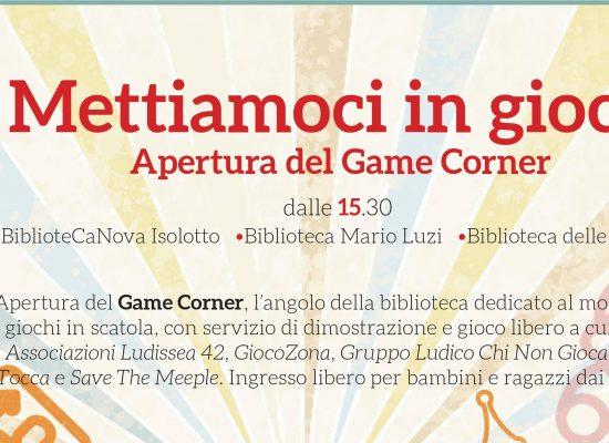 Game corner in biblioteca - Mettiamoci in gioco